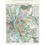Budapest fő- és székváros térképe fakeretben