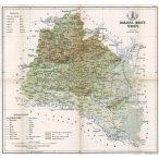 Baranya megye térképe fakeretben
