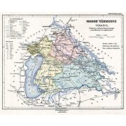 Moson vármegye térképe fakeretben