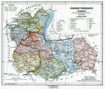 Sopron vármegye térképe fakeretben