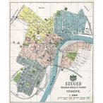 Szeged Szabad Királyi város térképe fakeretben