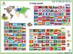 Világ zászlói asztali alátét A3 duo