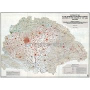 Nationality Map of The Historical Hungary térkép fakeretben