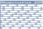 Éves projektnaptár 100x70 fémléces 2019 ajándék kék színű filctollal