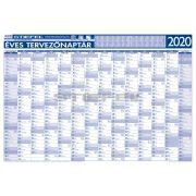 Éves tervezőnaptár 2020 140x100 cm fémléces ajándék kék színű filctollal
