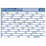 Éves projektnaptár 2020 140x100 cm, fémléces, ajándék kék színű filctollal