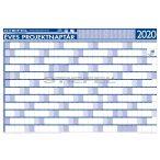 Éves projektnaptár 2020 140x100 cm, keretezett, ajándék kék színű filctollal