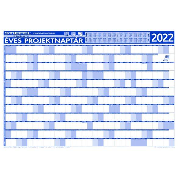 Éves projektnaptár 2022 140x100 cm, fémléces, ajándék kék színű filctollal