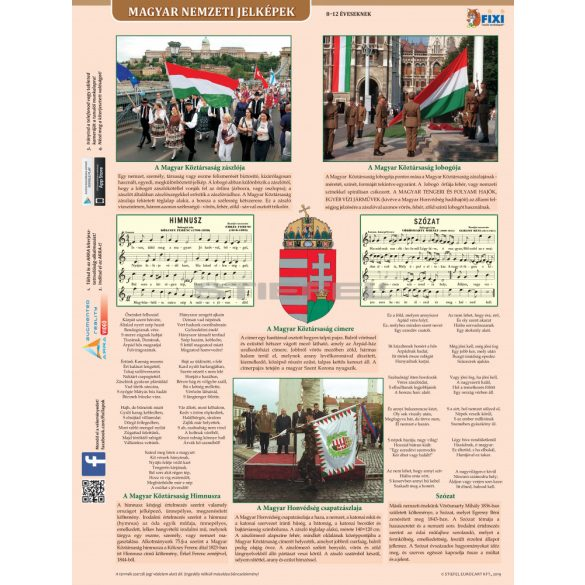 Magyar nemzeti jelképek + Magyar nemzeti ereklyék tanulói munkalap