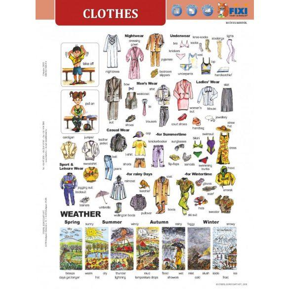 Clothes + munkaoldal tanulói munkalap