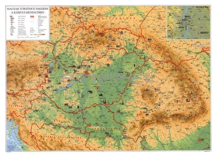 kárpát medence térkép Kárpát medence térkép + magyar mûvelődéstörténeti áttekintés  kárpát medence térkép