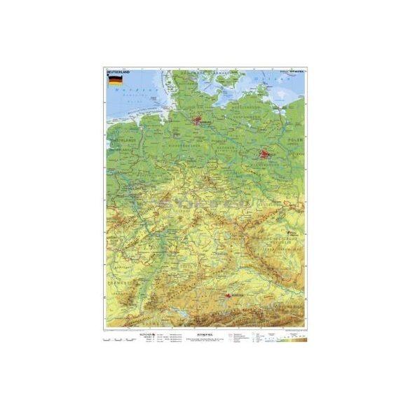Németország, domborzati + vaktérkép DUO (német nyelvű)