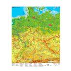 Németország turisztikai térkép (német nyelvű)