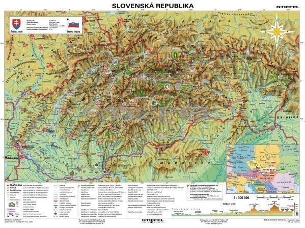 szlovákia domborzati térkép Szlovákia, domborzati + Szlovákia története DUO (szlovák nyelvű  szlovákia domborzati térkép