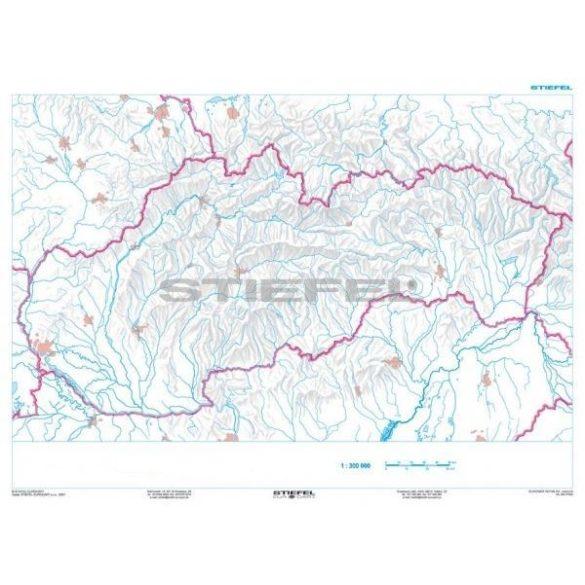 Szlovákia, domborzati + vaktérkép DUO