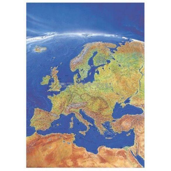 Európa panorámatérképe fémléces