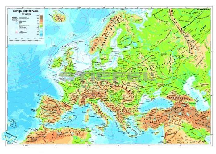 európa domborzati térkép Európa domborzata térkép könyöklő európa domborzati térkép