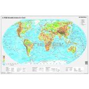 A Föld domborzata térkép wandi