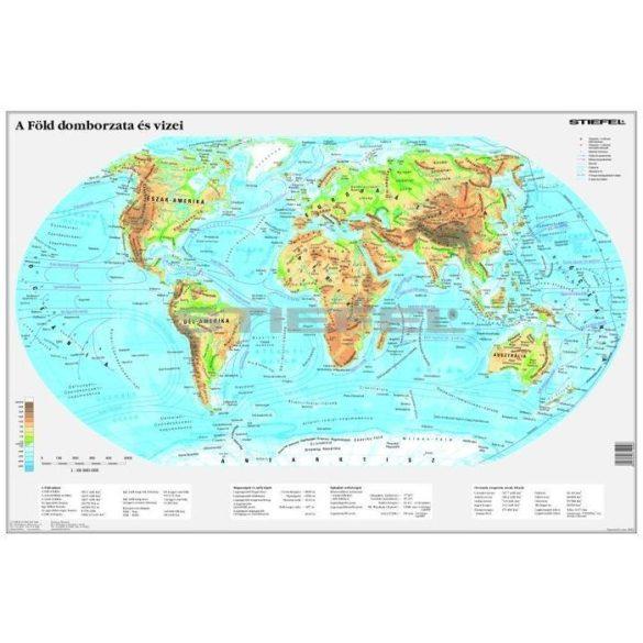 A Föld domborzata térkép könyöklő