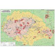 Magyar néprajzi térkép DUO wandi