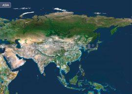 Ázsia a világűrből