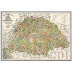 Antik Magyarország térkép könyöklő / Magyarország közigazgatása járásokkal