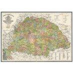 Antik Magyarország térkép / antik Magyarország 1876 wandi