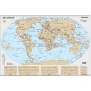 Föld kaparós térkép magyar nyelvű fémléces, ezüst színű