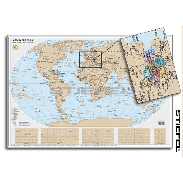 Föld kaparós térkép arany bevonattal magyar nyelvű poszter