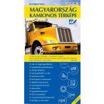 Magyarország kamionos térképe hajtott (2012-es kiadás) utolsó darabok