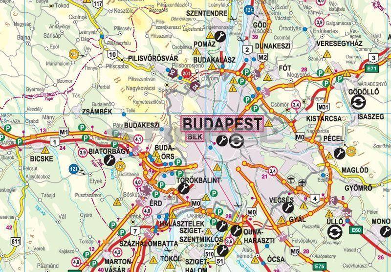 kamionos térkép magyarország Magyarország kamionos térképe hajtott (2012 es kiadás) kamionos térkép magyarország