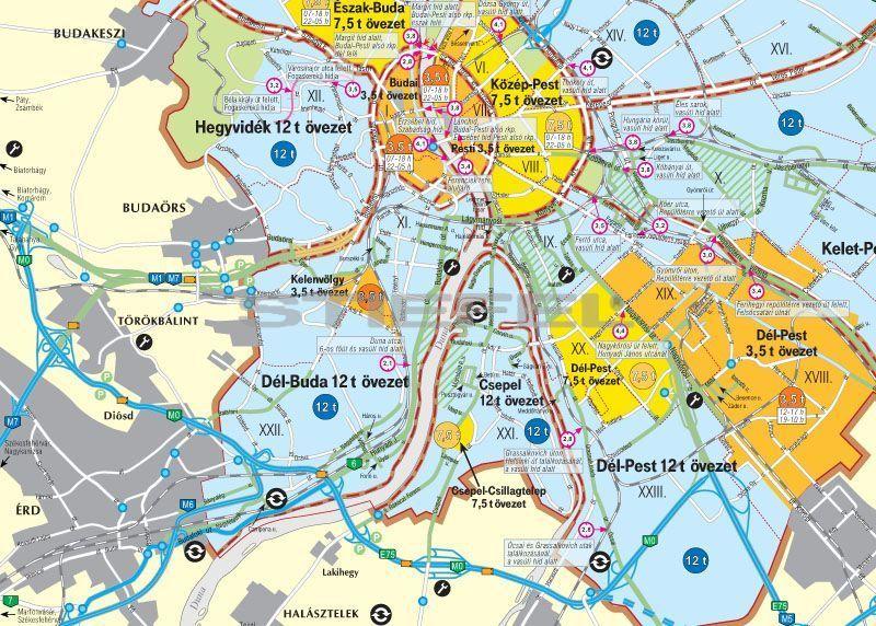 budaörs domborzati térkép Magyarország kamionos térképe hajtott (2012 es kiadás) budaörs domborzati térkép