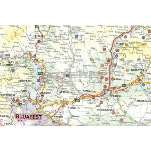 Magyarország kamionos falitérképe, fémléces (2015)