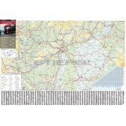 Magyarország kamionos térképe (keretezett)