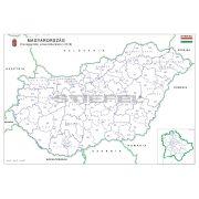 Magyarország választási színező fémléces 2018 68x49 cm