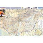 Magyarország autótérképe a járáshatárokkal