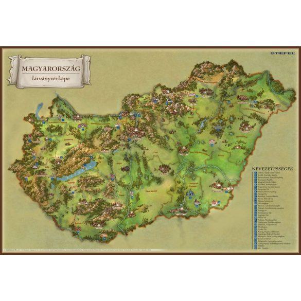 Magyarország látványtérkép / Balaton és környéke könyöklő