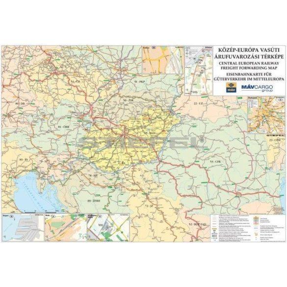 Közép-Európa vasúti térképe fémléces