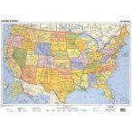 USA politikai fémléces térkép