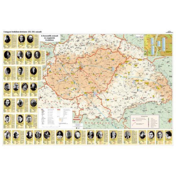 A magyar irodalom története hajtogatott térkép DUO