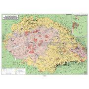 Magyar néprajzi térkép kétoldalas fémléces