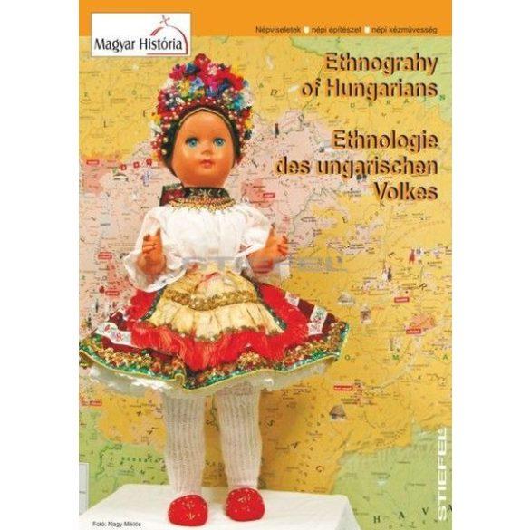 Magyar néprajzi térkép, hajtogatott DUO (angol-német nyelvű)