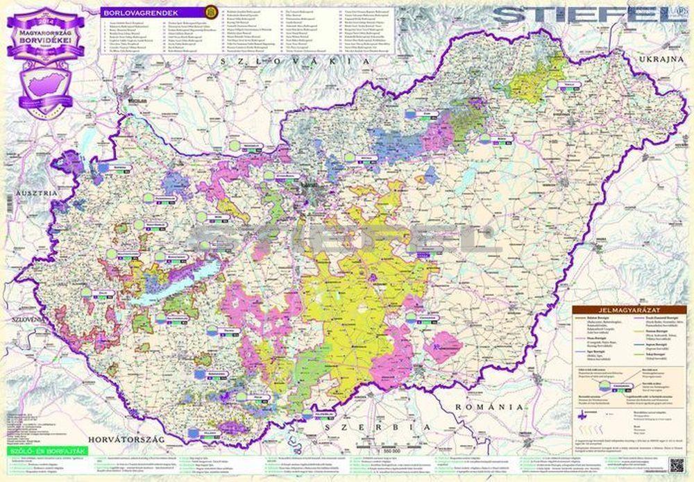 magyarország borvidékei térkép Magyarország borvidékei fémléces térkép magyarország borvidékei térkép