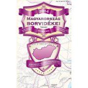 Magyarország borvidékei térkép (hajtogatott, puhaborítós)