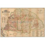 Régi Magyarország 1876 borászati térképe