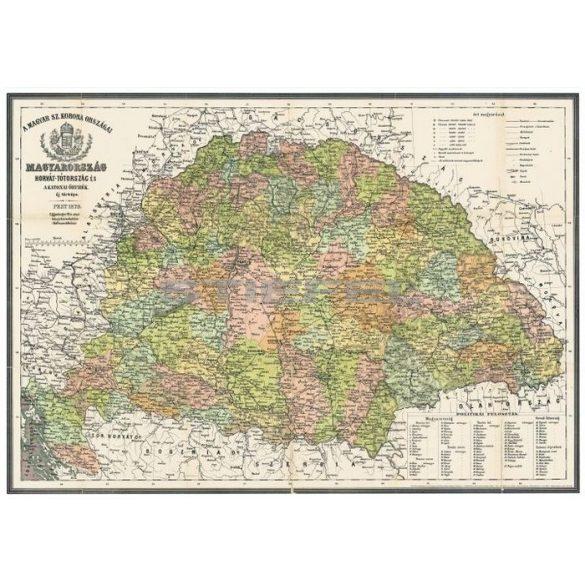 Antik Magyarország fémléces térkép
