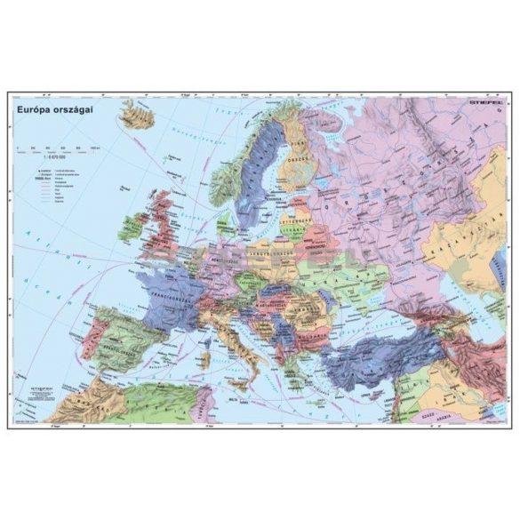 Európa országai térkép fémléccel