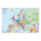 Európa országai angol nyelvű térkép fémléccel