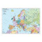 Európa országai, keretezett angol nyelvű térkép