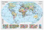A Föld országai tűzhető, keretezett falitérkép